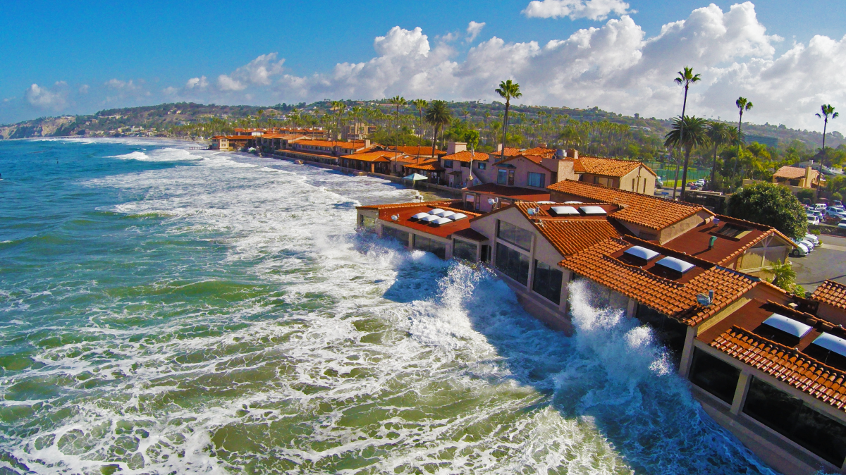 High Tide of la jolla shores by Kdilliard