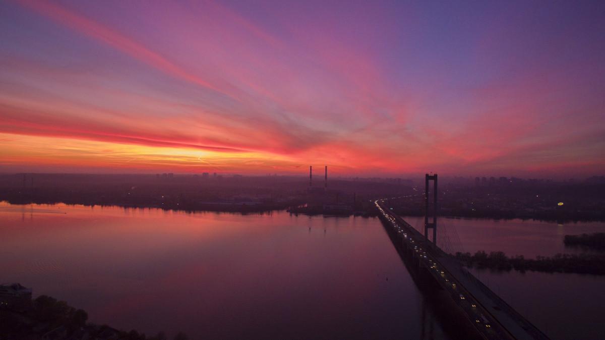 South Bridge, Kiev, Ukraine