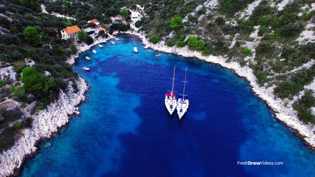 Bay at Šolta island, Croatia