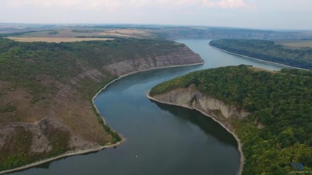 Dnestr river, Vrublevtsy, Khmelnitska obl. Ukraine