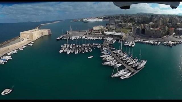 360° drone video on Heraklion Crete