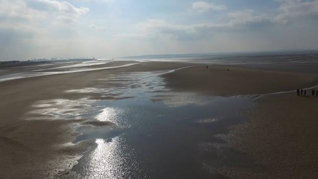 Crosby Beach, Liverpool, UK