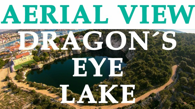 Dragon`s Eye Lake, Rogoznica, Croatia