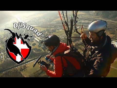 Fly the drone from a paraglider