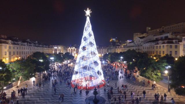 Rossio plaza, Lisbon, portugal