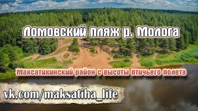 Lomovskoi beach, river Mologa, Maksatiha, Russia
