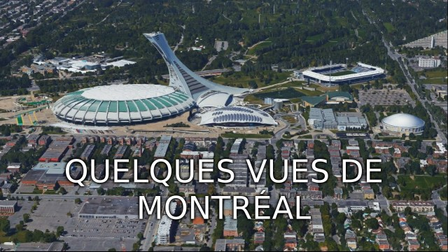 NOT FROM DRONE, Some views in Montreal. Captured from Google Maps