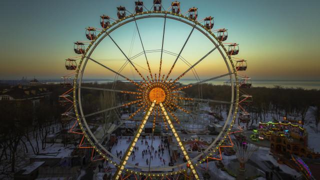 Amusement grounds. Odessa, Ukraine
