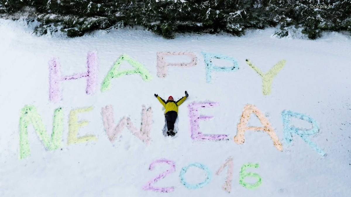 Happy New Year from French Alps