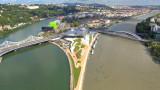 Photo aérienne drone Lyon Confluence musée 2015 – TechniVue