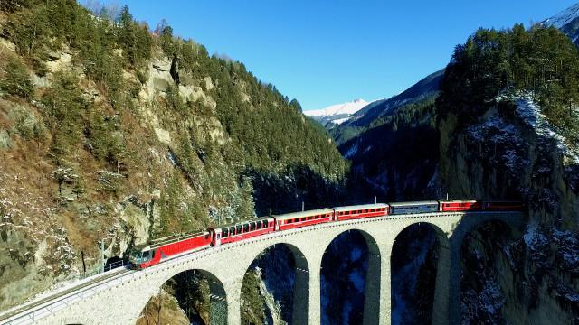 Landwasser Viadukt, Switzerland, Graubünden, Filisur