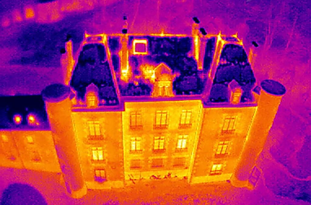 Image thermique drone Château – Technivue