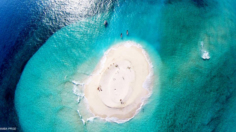 Ilot de sable blanc