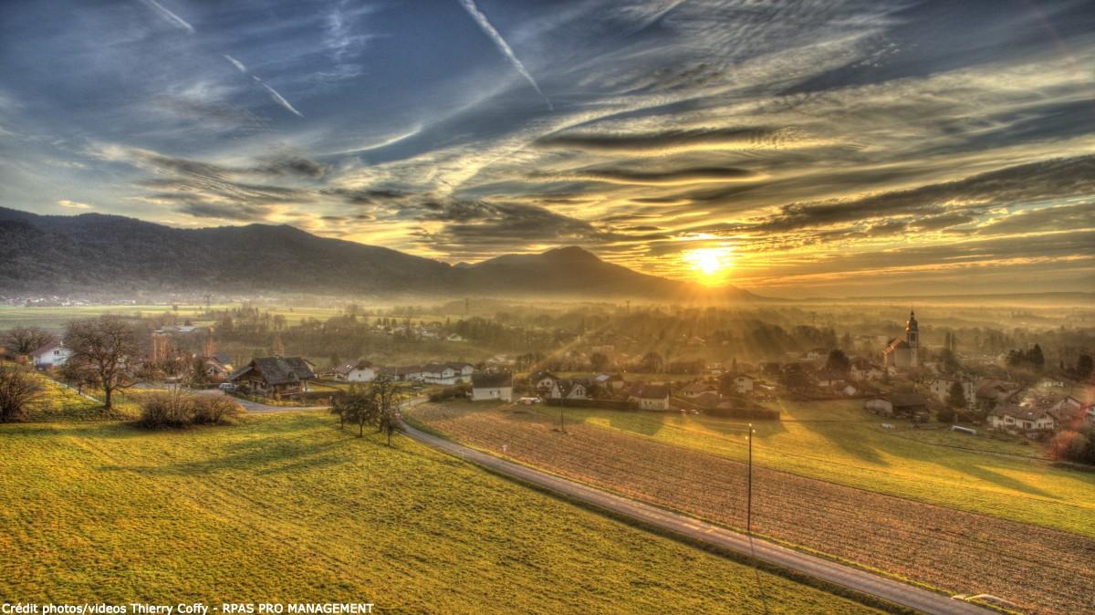 Small Village in Haute-Savoie (France)