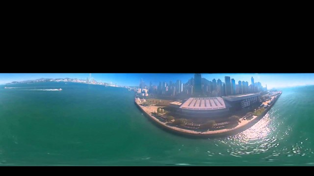 360 Degree Drone Video of Hong Kong Harbor – Short Video