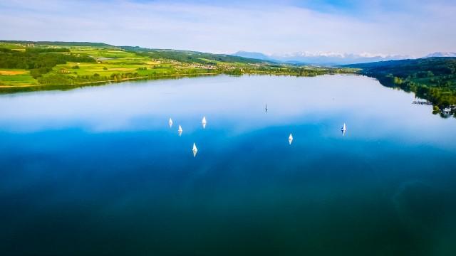 Sailing at Lake Hallwil