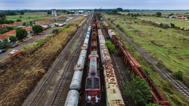 Estação de trem , Araçatuba , SP , Brasil
