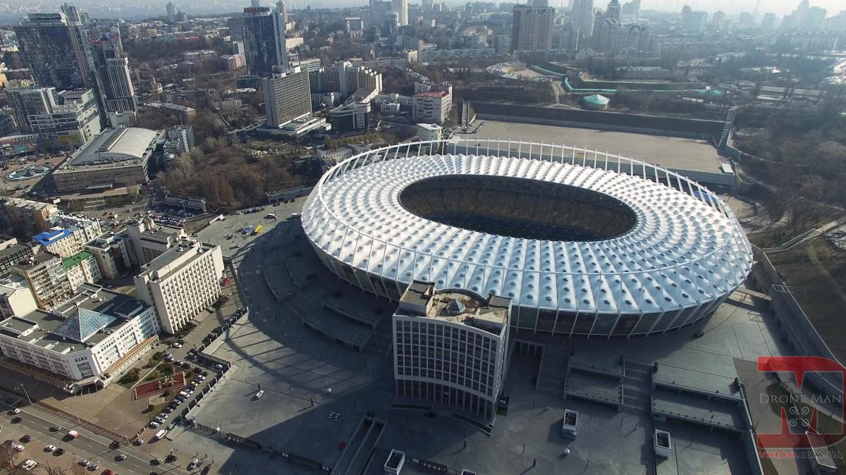 Droneman on Olimpiyskiy in Kyiv