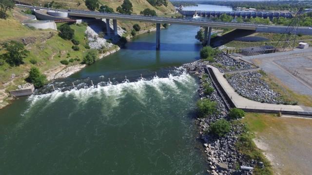 Sacramento dronestagram for Nimbus dam fishing