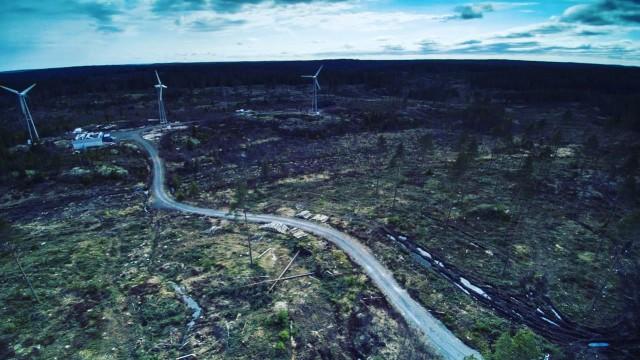Mini windmills park, Finland