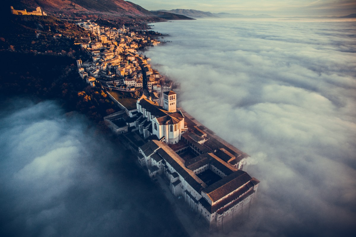 Basilica of Saint Francis of Assisi, Umbria, Italy by fcatutto