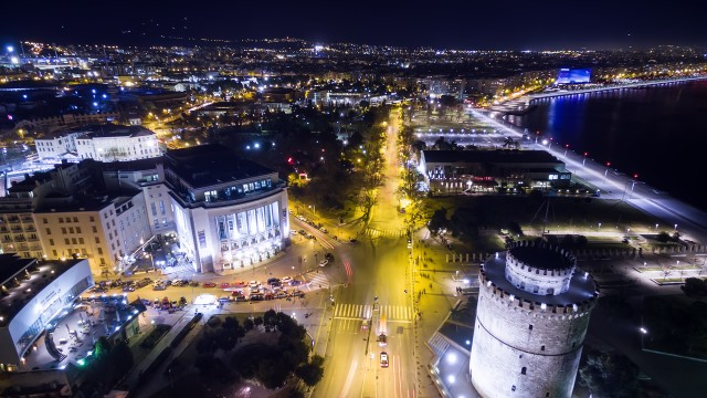Tower and the city of Thessaloniki