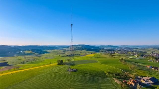 Blosenbergturm aus der Luft