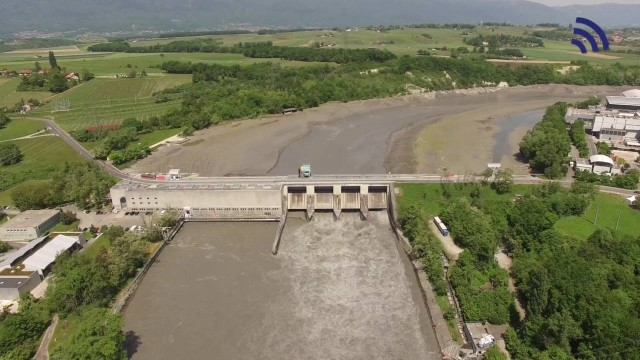 Abaissement du Rhône au barrage de Verbois
