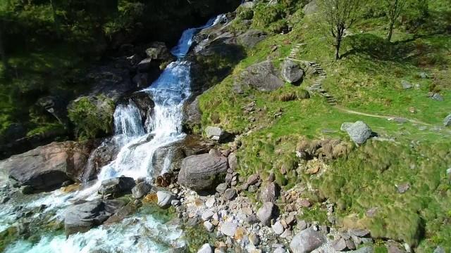Sonogno & Froda Waterfall, Val Verzasca, Tessin, Switzerland