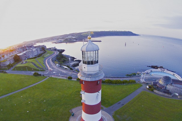 Smeaton's Tower, The Hoe, Plymouth, Devon, UK