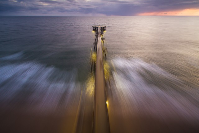 Warp Speed over the pier