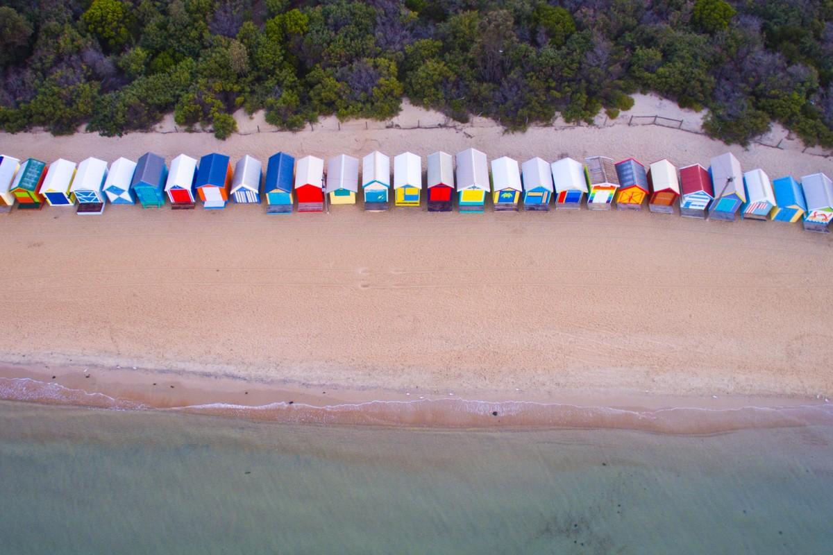 Brighton Beach Houses, Brighton, Victoria, Australia