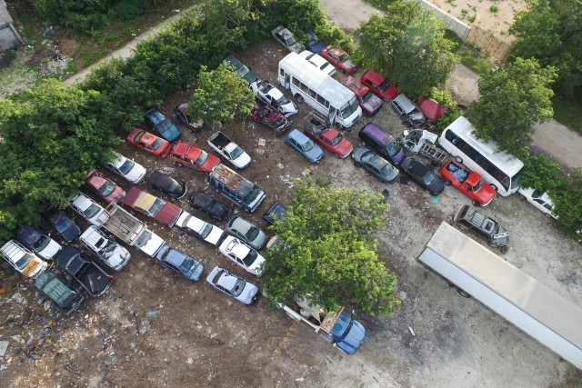 Cars in Tulum