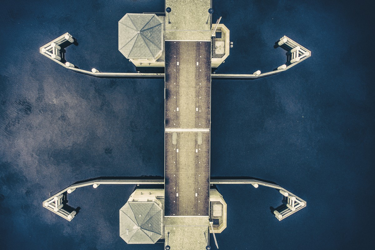 drawbridge, Elblag, Poland