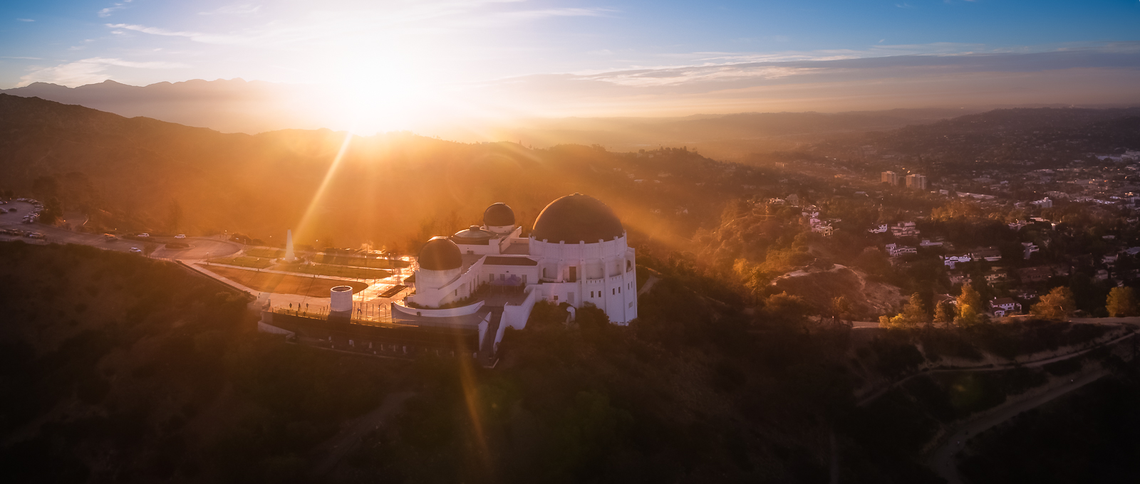 Griffith Observatory blinded by the light