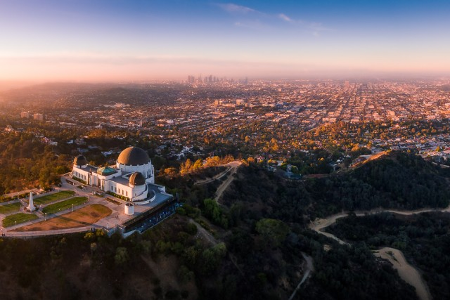 Griffith Observatory at first light