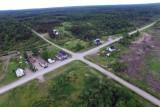 Vue aérienne du village de Despinassy (Québec)