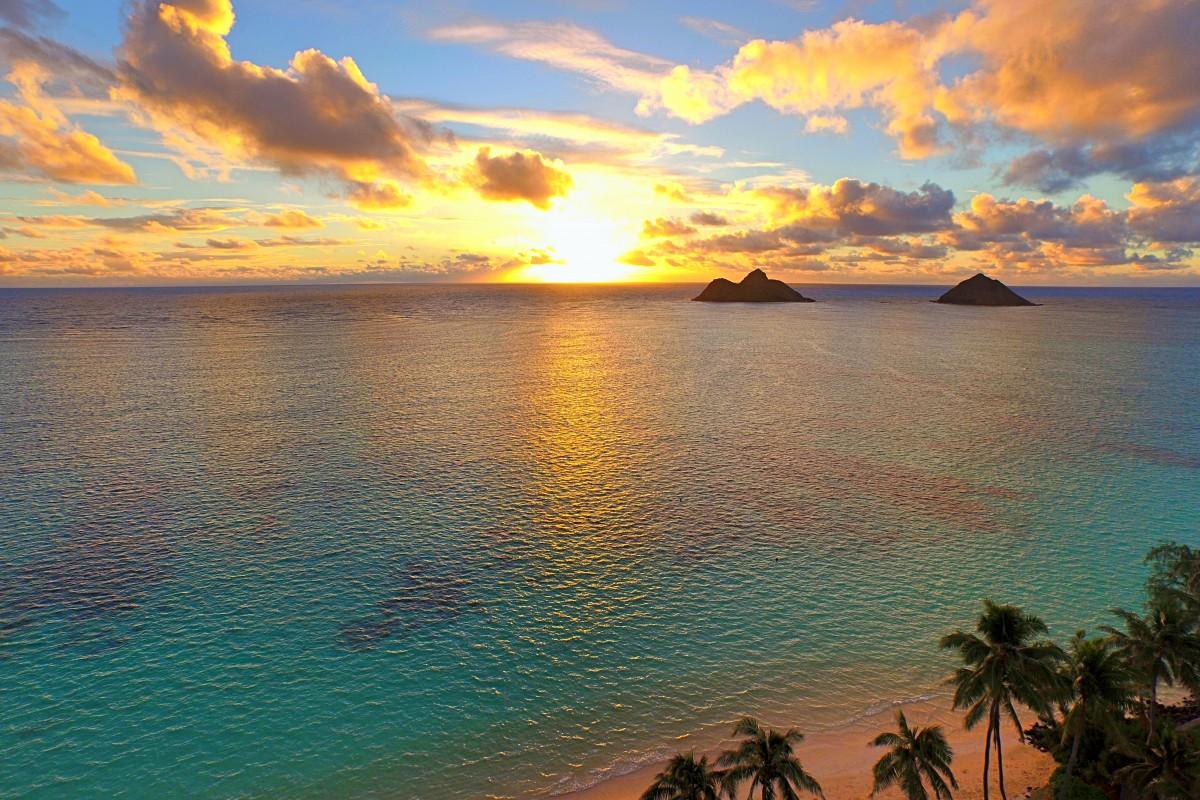 Na Mokulua Hawaii: Lanikai Beach, Kailua, Hawaii, USA