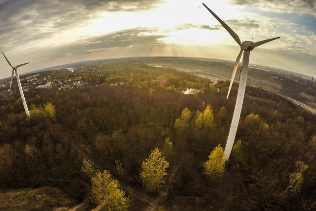Windpark am Kalksteinbruch Rüdersdorf