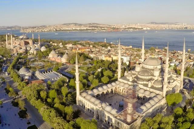 Aya Sofya and Sultanahmet Camii aka Blue Mosque, Istanbul, Turkey