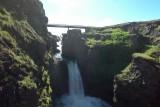 Kolugljúfur Canyon Waterfall