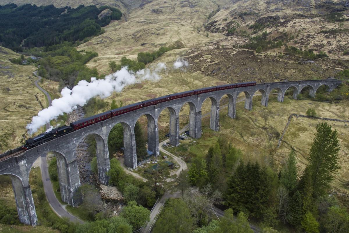 Glenfinnan United Kingdom  city pictures gallery : Glenfinnan Viaduct, Inverness shire, Scotland | Dronestagram