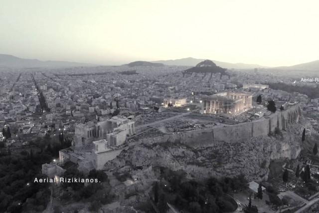 Acropolis-Parthenon,Greece.Aerial-Rizikianos.