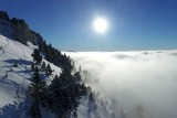 Chamechaude on the clouds