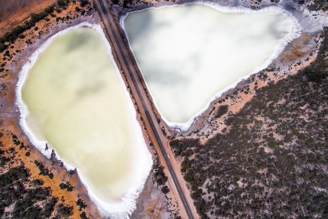 Salt lake near Salmon Gums, Western Australia, Australia