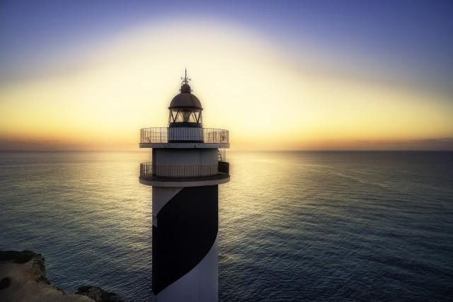 Faro de Portinax, San Miguel de Balanzat, Isla de Ibiza, Españaa