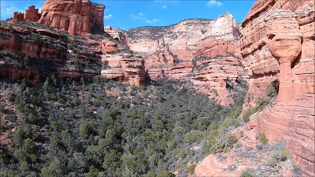 Fay Canyon, In Sedona AZ USA