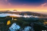 Lever de soleil sous le givre, plaine des Cafres, Reunion