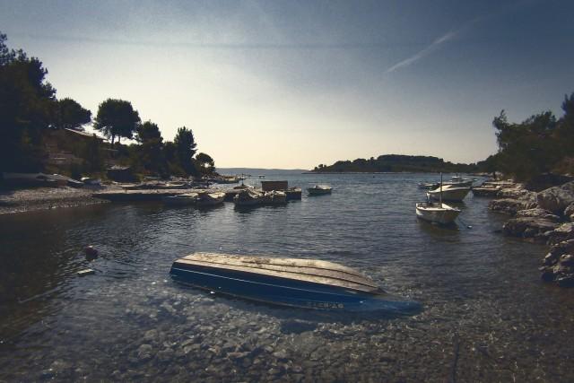 Sunken Boat, Island Ciovo, Croatia