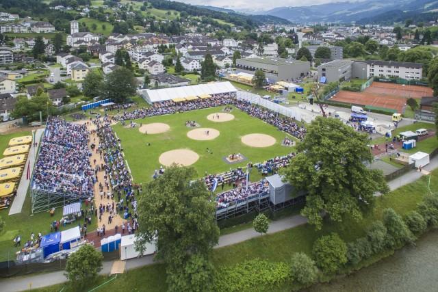 Nordostschweizer Schwingfest 2016, Wattwil, Switzerland